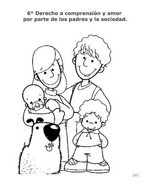 Derechos del niño para colorear